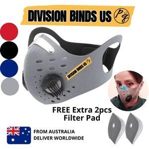 Dual Breathing Vents Unisex Face Mask Valves
